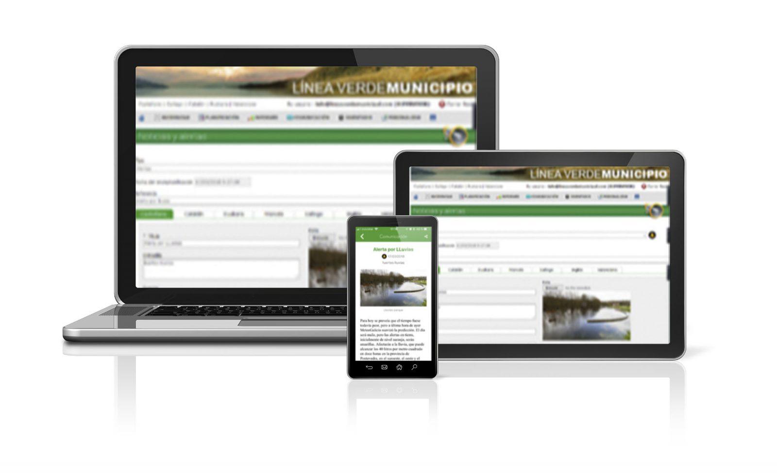 Municipio aplicación Línea Verde